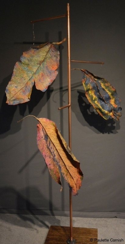 INSTALLATION COPPER MADRONA TREE-Paulette Cornish-Fibre Art-TExtile Art-Surface Design-Digital Art-Photography-Contemporary Art-Eco Prints-