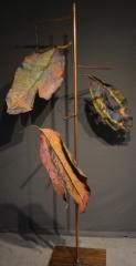 INSTALLATION COPPER MADRONA TREE-Paulette Cornish-Fibre Art-TExtile Art-Surface Design-Digital Art-Photography-Contemporary Art-Eco Prints-